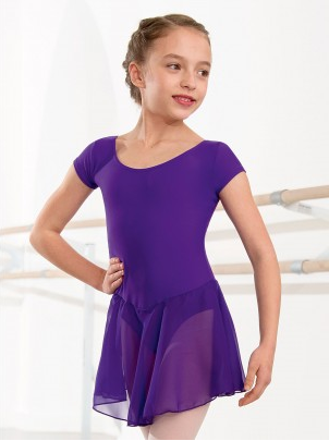 Voile Skirted Leotard Violet