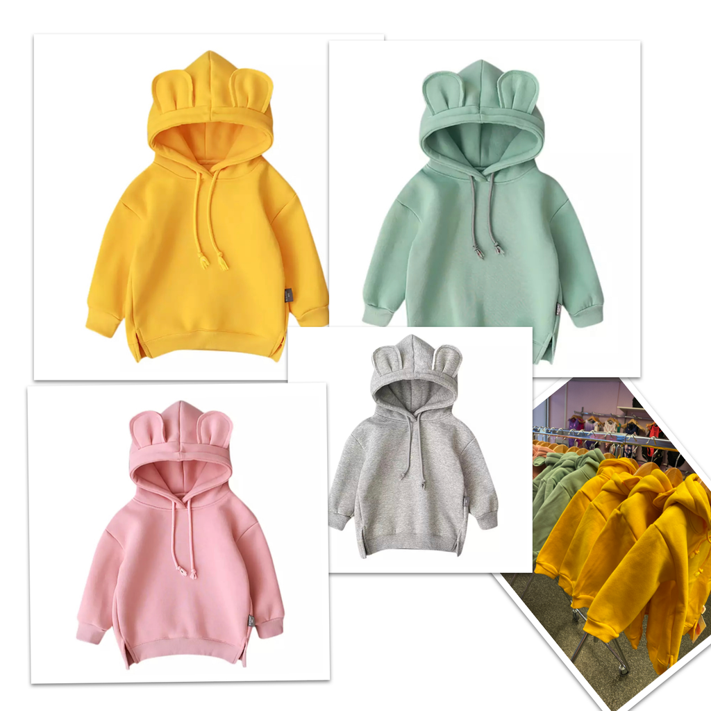 Kids Block Colour Hoodie Yellow