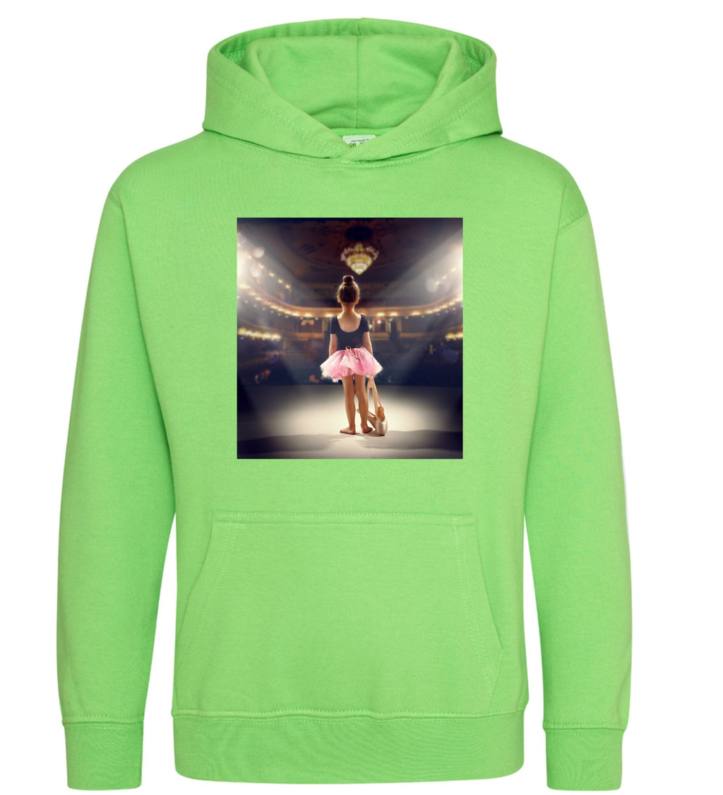 Young Dancer Hoodie Lime