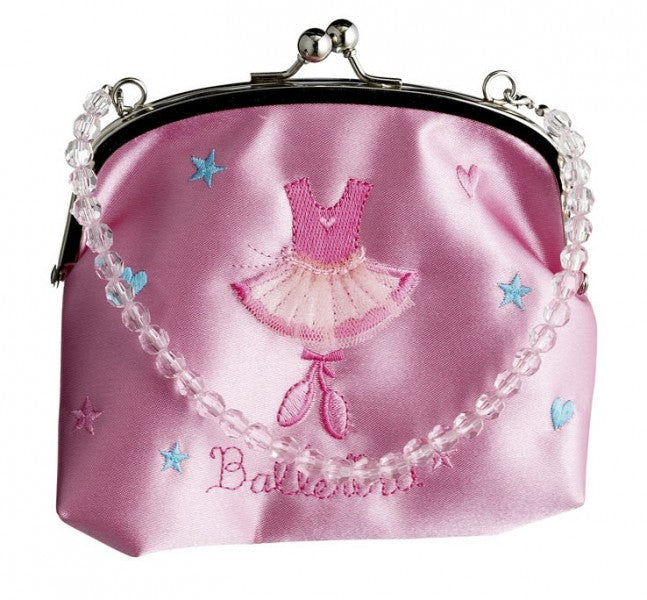 Ballerina Beaded Handle Purse