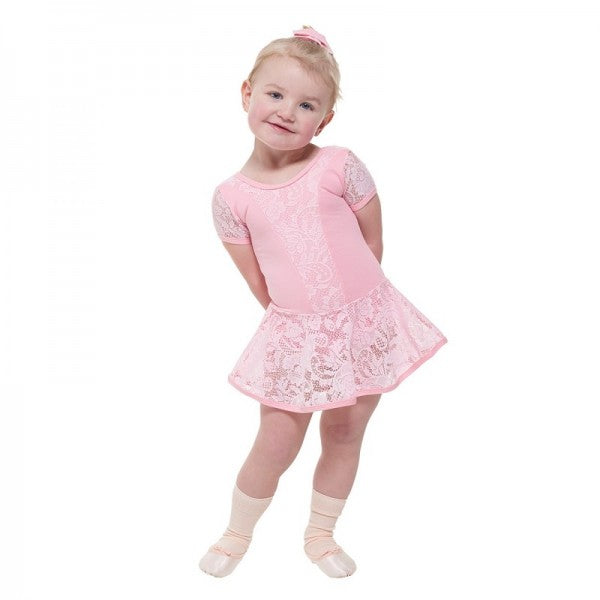 Lace Skirted Leotard PALE PINK