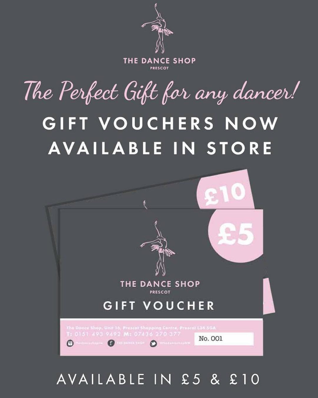 Dance Shop Voucher £5