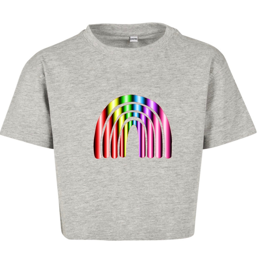 Shiny Rainbow T-Shirt Grey