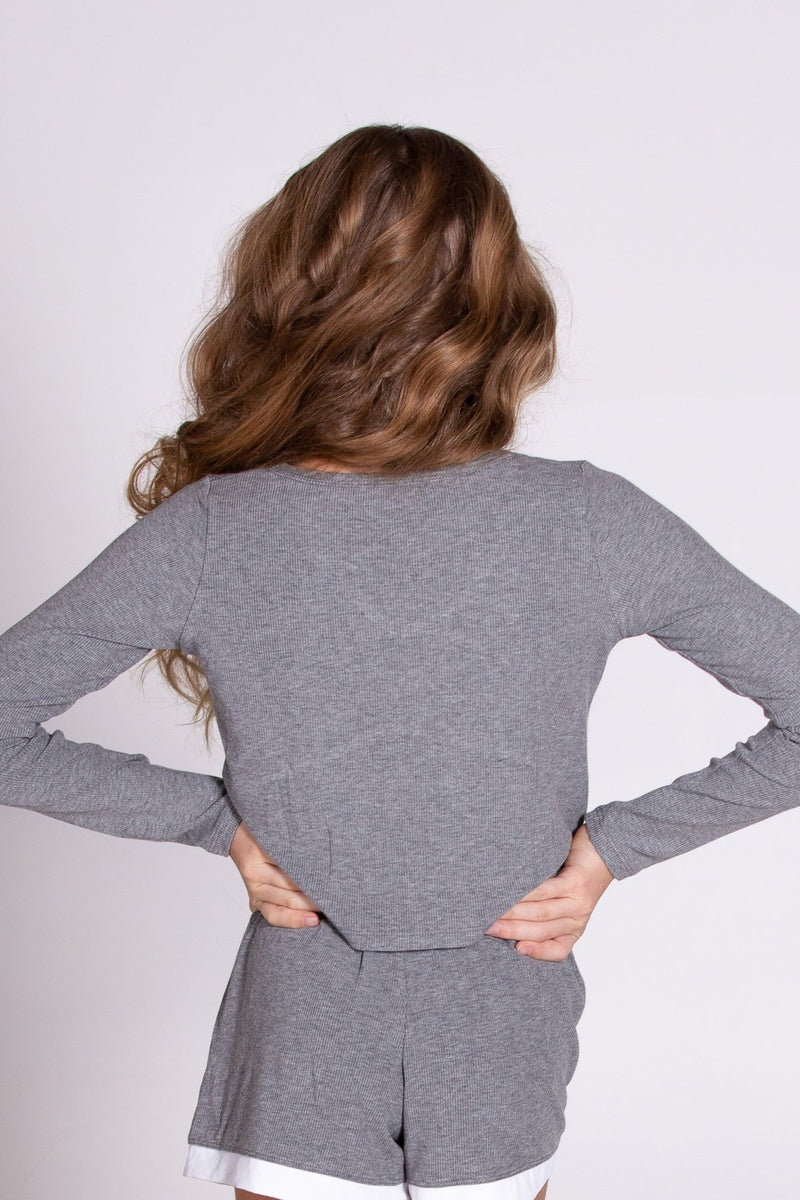 Pixie Lounge Top Grey