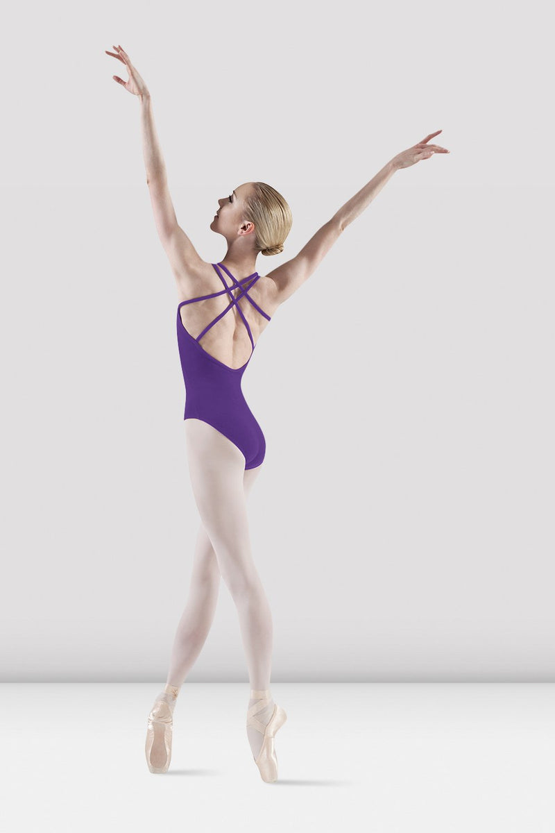 Alexis Double Strap Leotard Purple
