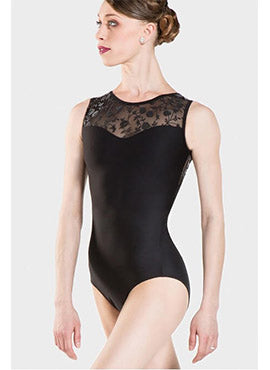 MAJESTE Leotard BLACK