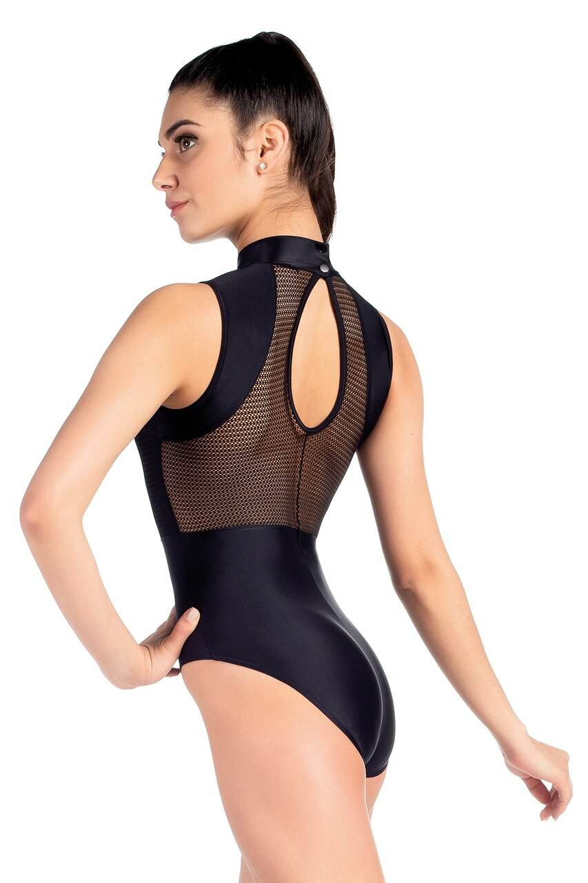 SD 2063 HIgh Neck Leotard Black