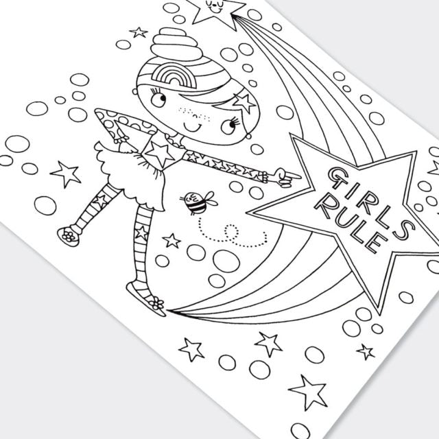 Girls Rule Colouring Book
