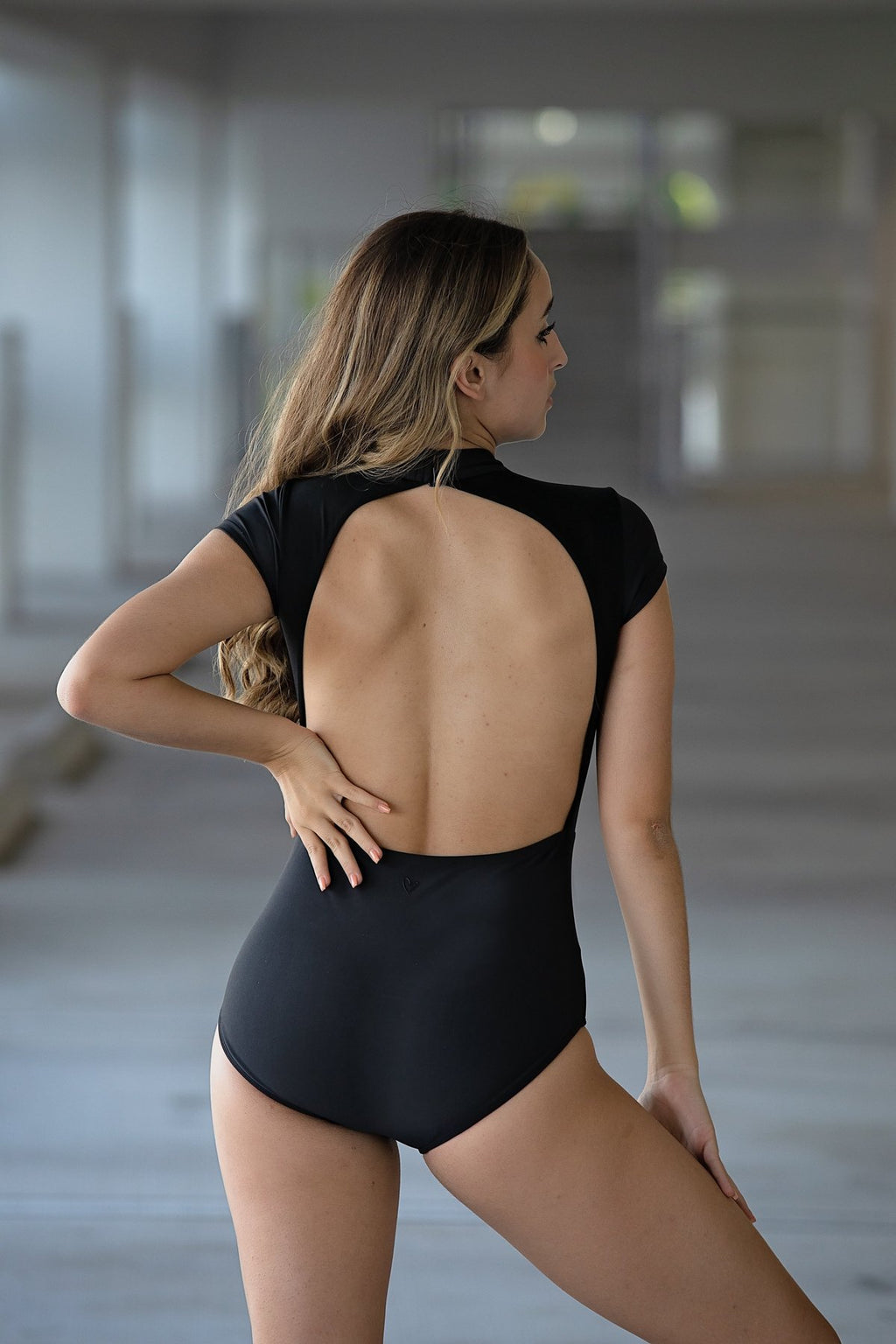 The Stella Leotard Black