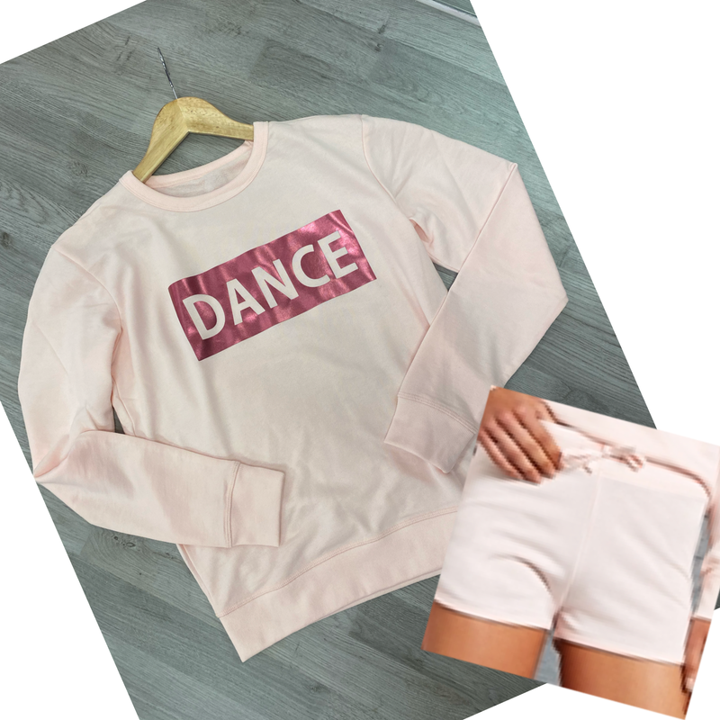 DANCE Shorts Set Pale Pink