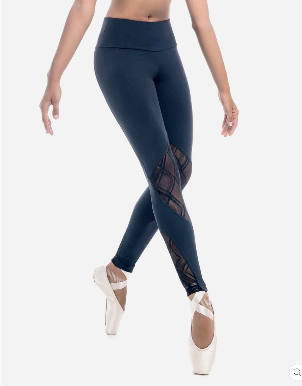 SD Detail Dance Leggings Black