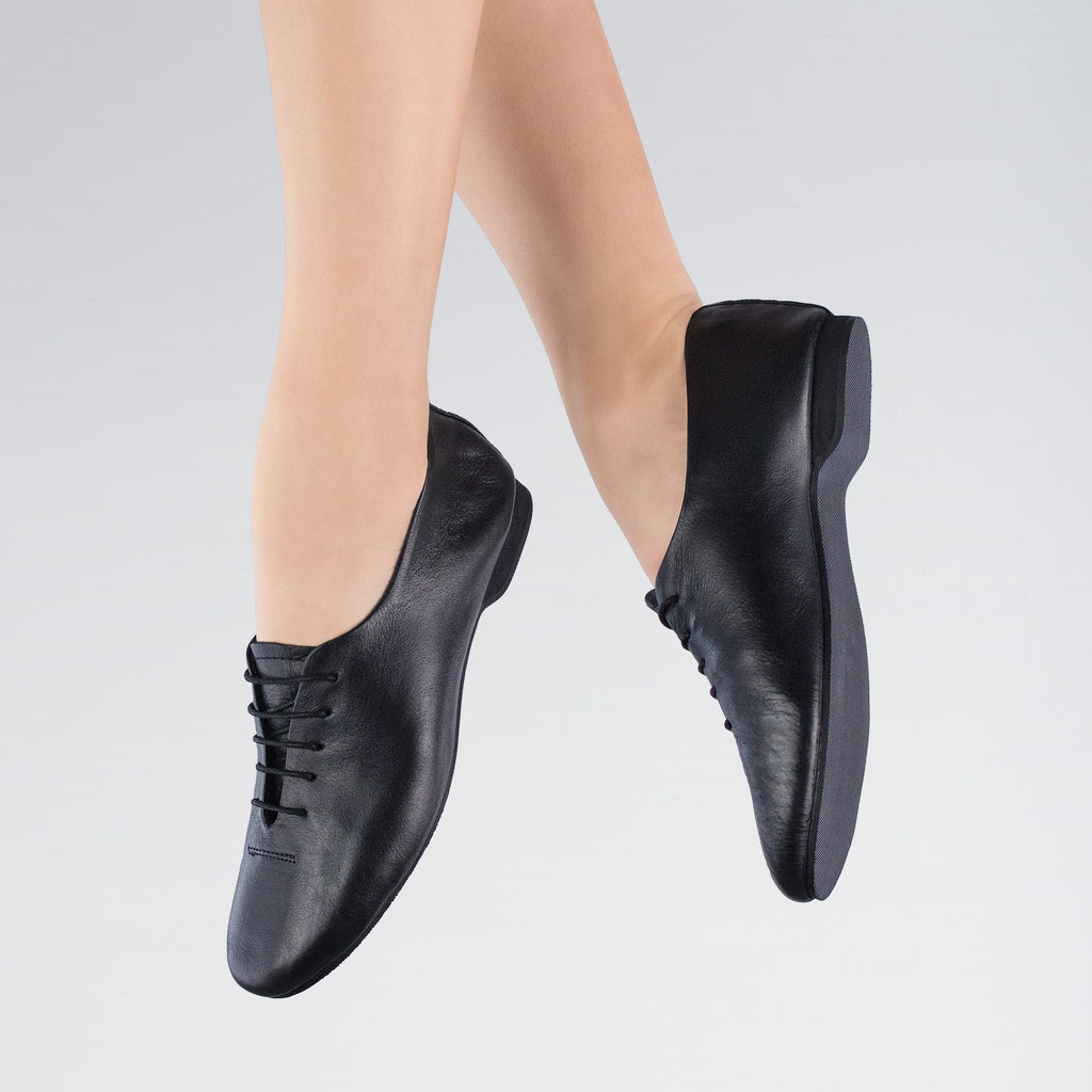 1st Pos Leather FS Jazz Shoes Black