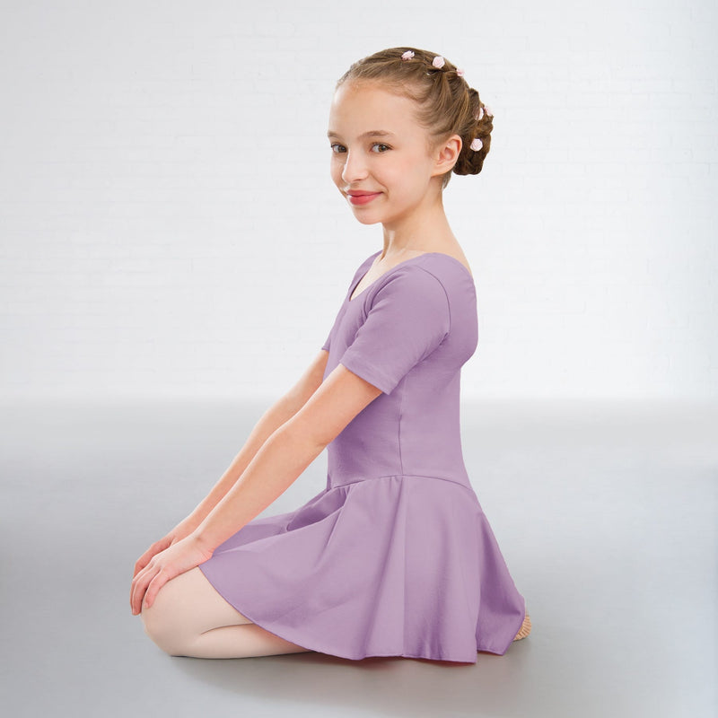 Hannah Cotton Skirted Leotard Lavender