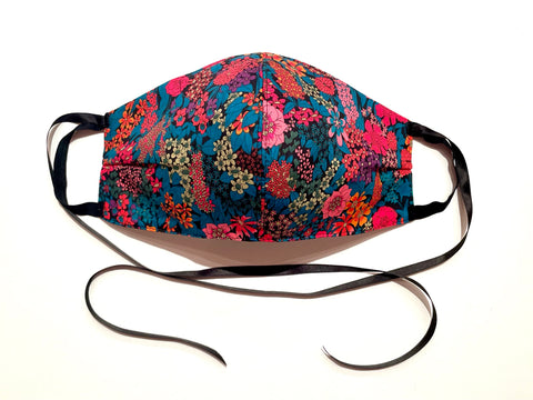 Deluxe Bright Floral Liberty Cotton Mask