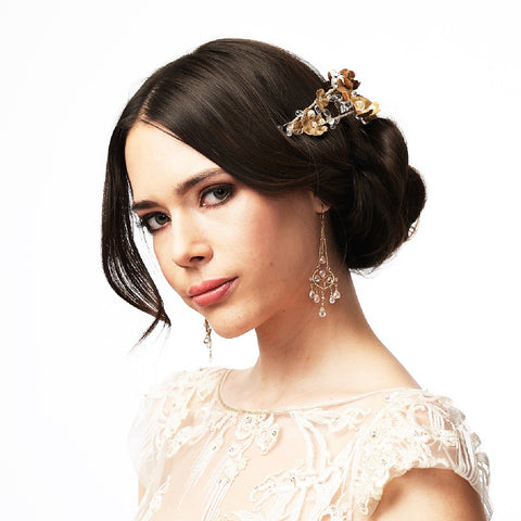 Adrienne- Petite headband with white topaz