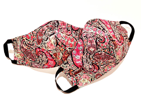 Premium Pink Paisley Liberty Cotton Mask