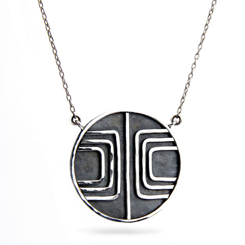 Magnetic Field Pendant Necklace