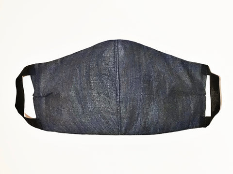 Premium Midnight Navy Chambray Cotton Mask