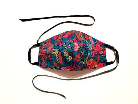 Premium Bright Floral Liberty Cotton Mask