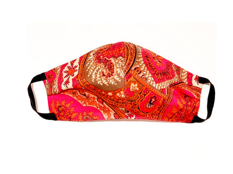"Deluxe ""Lipstick"" Paisley Cotton Mask"