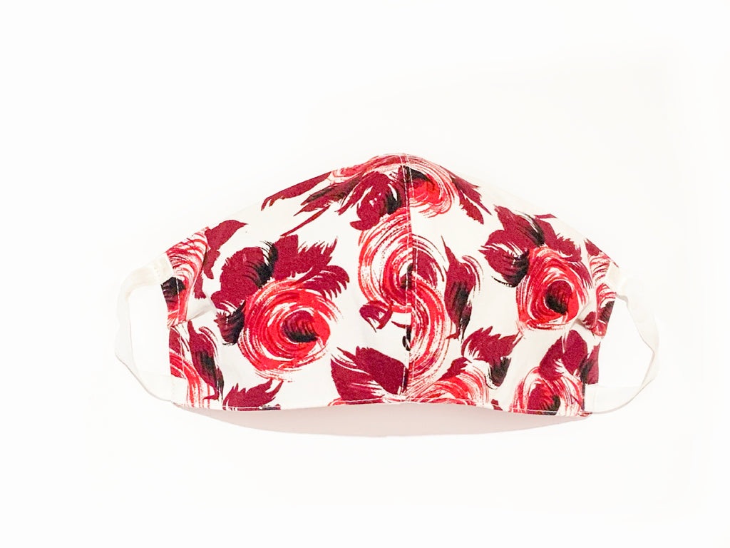 Deluxe Red Roses Italian Cotton Mask