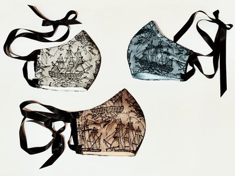 """Pirate Party"" Couture Lace Mask"