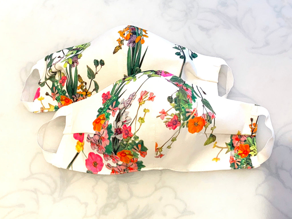 Premium Floral Bouquet Cotton Mask
