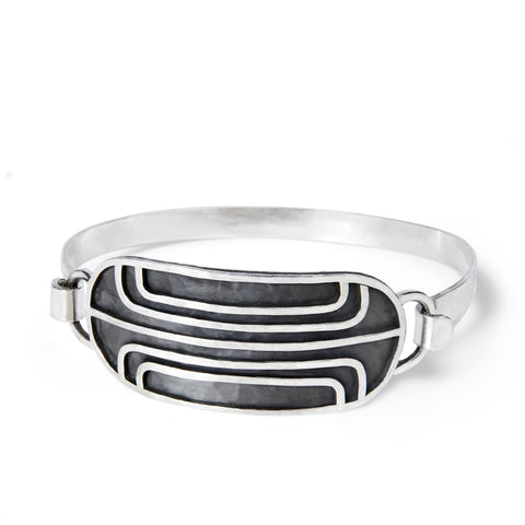 Magnetic Field Pinch Cuff Bracelet
