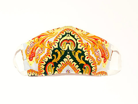 Premium Italian Paisley Cotton Mask