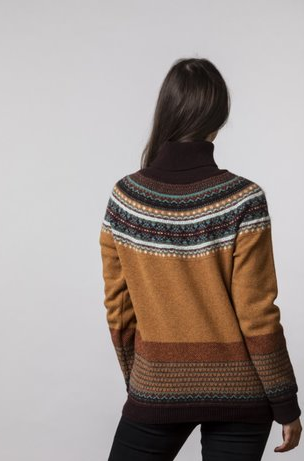 Eribe Alpine Roll Collar Sweater Goldfinch