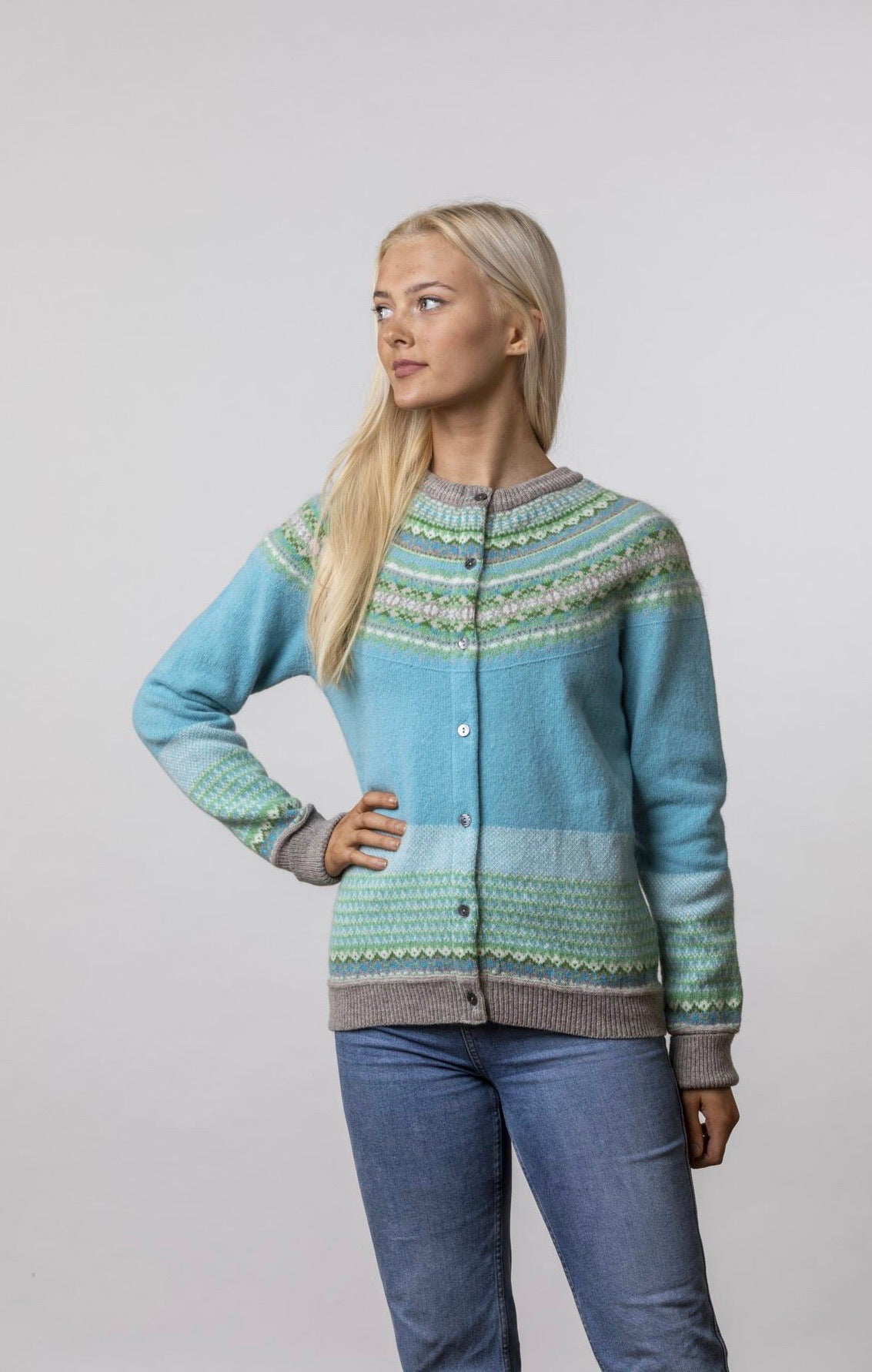 Eribe Alpine Cardigan Sea Holly