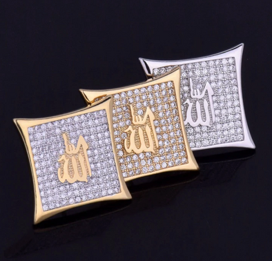Iced Allah Earrings