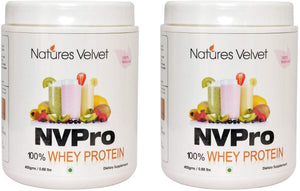 NVPRO - 100% Whey Protein - Natural And Vegetarian - 400 GMS