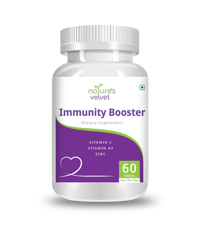 Immunity Booster with Vitamin C, Vitamin D3 and Zinc for Strong Defence against Bacterial and Viral Infections - 60 Tablets