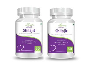Shilajit Pure Extract For Strength And Stamina - 500 MG (60 Vegetarian Capsules)