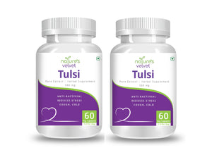 Tulsi Pure Extract For Cough And Cold - 500 MG (60 Vegetarian Capsules)