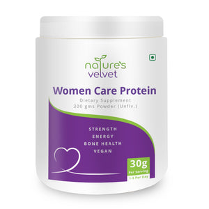Women Care Protein For Strength And Bone Health - Vegan - Unflavored - 300 GMS Powder