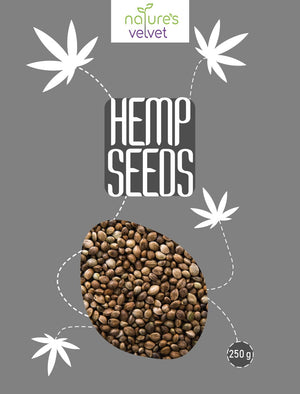 Hemp Seeds, Raw and Premium, 250g