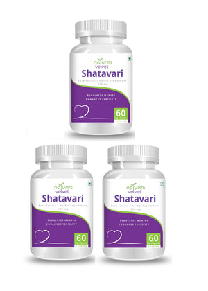 Shatavari Pure Extract For Women - Harmonal Balance And Menstrual Regulation - 500 MG (60 Vegetarian)