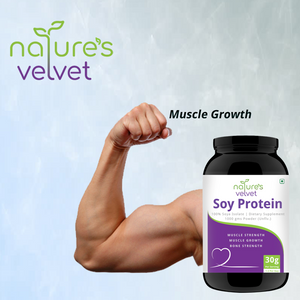 Soy Protein Powder - 100% Soy For Mega Strength - Unflavored - 300 GMS