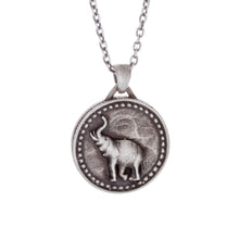 Load image into Gallery viewer, Large Elephant Conservation Currency Pendant