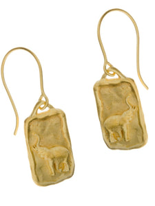 Elephant Conservation Currency Earrings