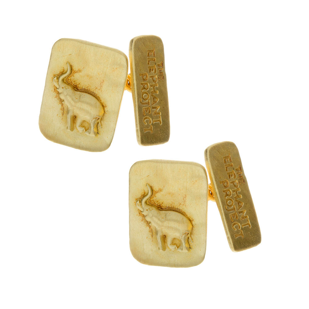 Elephant Conservation Geo Cufflinks