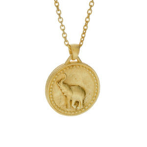 Small Elephant Conservation Currency Pendant