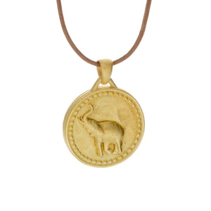 Large Elephant Conservation Currency Pendant