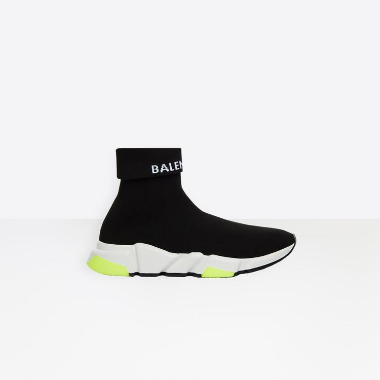Balenciaga Speed Knit Sneakers Logo High-Top (Men)