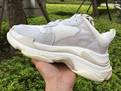 Triple S Trainers - White - Polyester - Men's Shoes