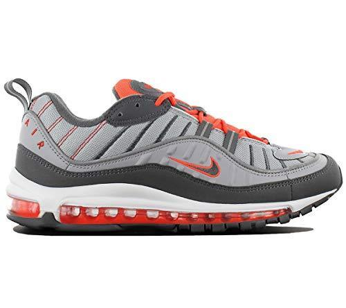 Air Max 98 Mens Total Crimson 640744-006 Wolf Grey/Dark Grey Running Shoes