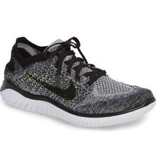 Free RN Flyknit 2018 Men's Shoes 942838-101 White Black