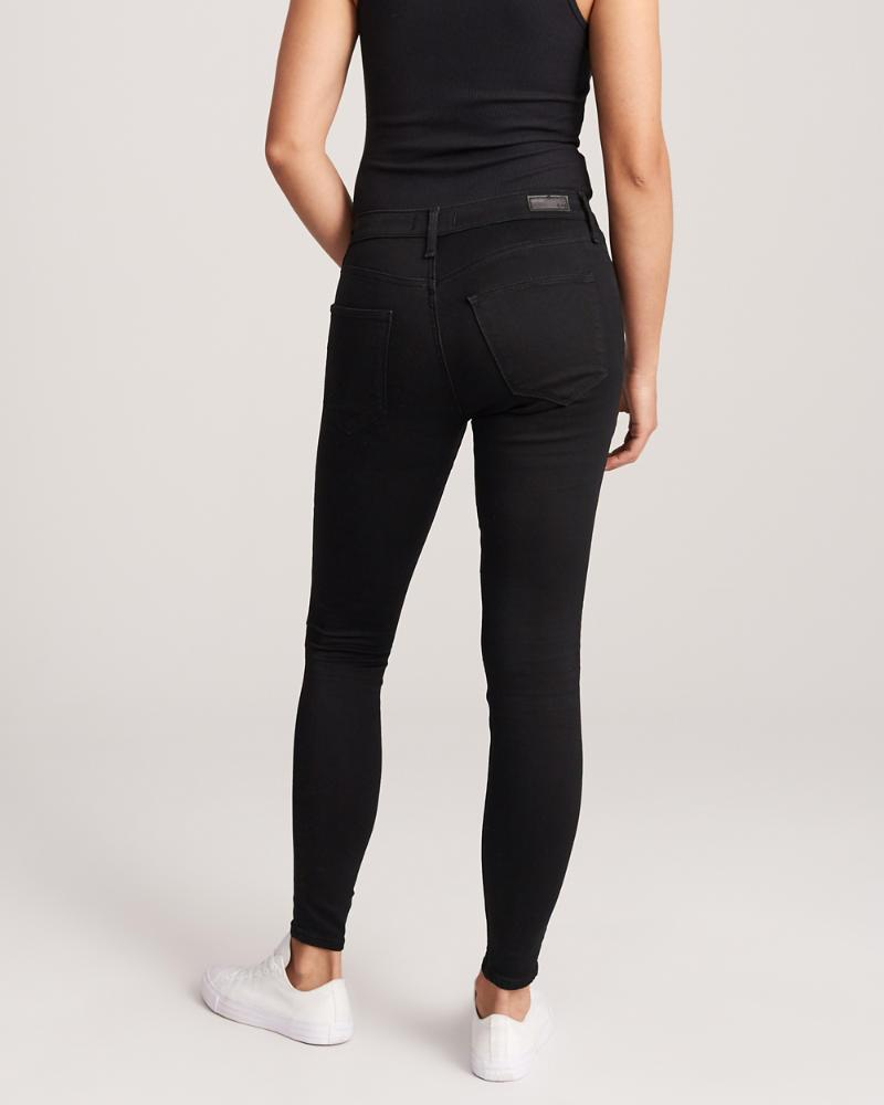 Abercrombie & Fitch Womens Low Rise Jean Leggings in Black